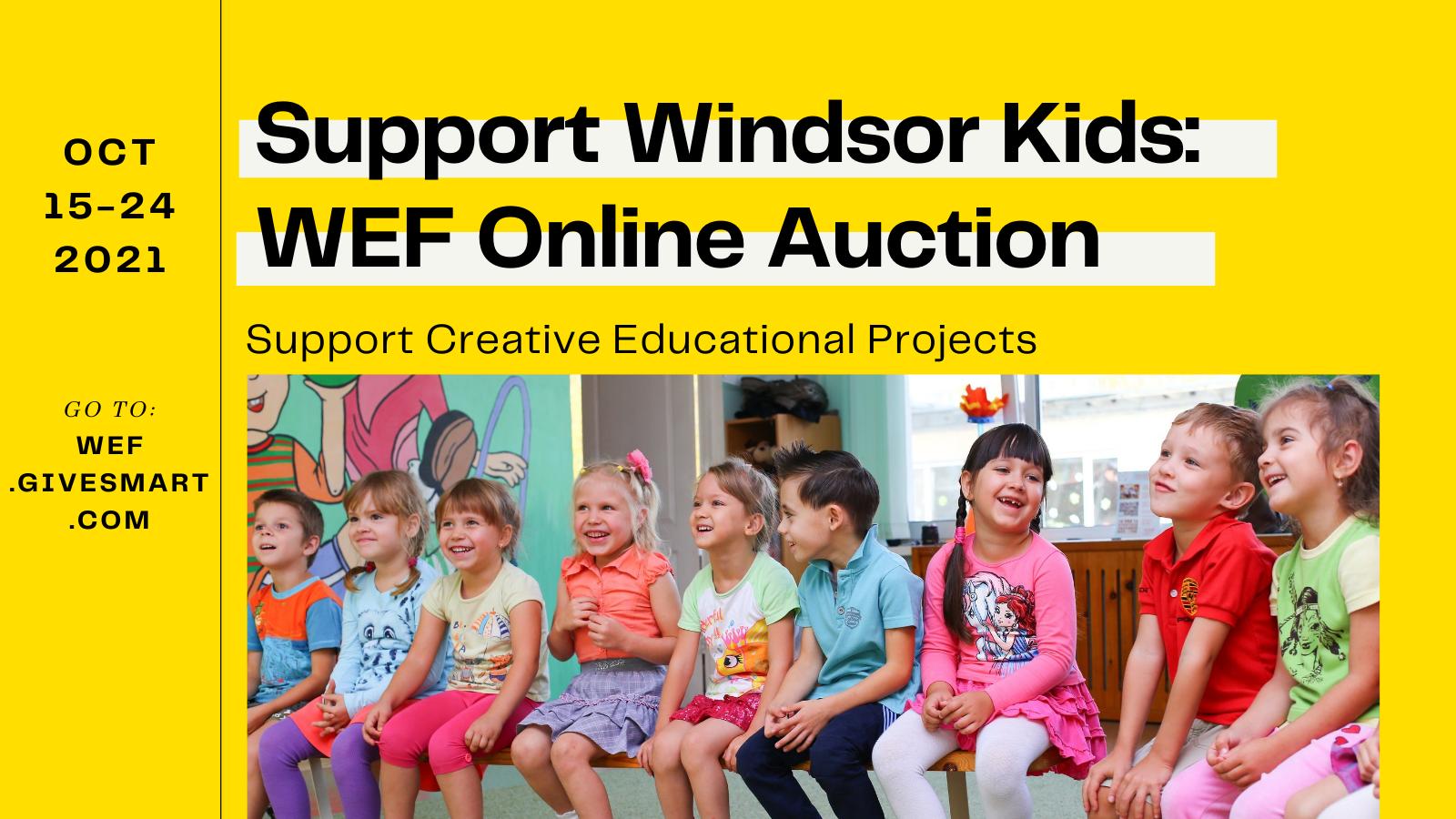 wef online auction for windsor kids